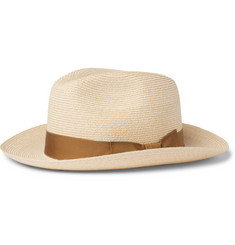 Lock & Co Hatters Provence Grosgrain-Trimmed Hemp Trilby Hat