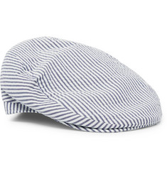 Lock & Co Hatters Santorini Cotton-Seersucker Flat Cap