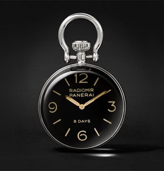 Officine Panerai Stainless Steel Table Clock