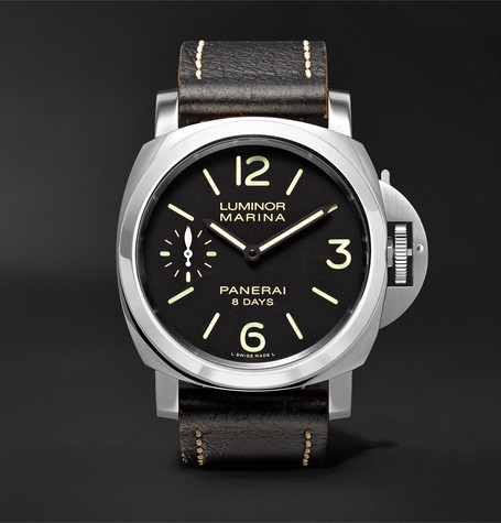 Panerai PAM00510 Luminor Marina 8 Days Acciaio 44mm Stainless Steel And Leather Watch - Black