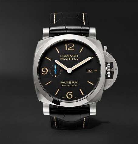 Panerai PAM01312 Luminor Marina 1950 3 Days Acciaio 44mm Stainless Steel And Alligator Watch - Black