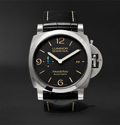 Officine Panerai - Luminor Marina 1950 3 Days Acciaio 44mm Stainless Steel and Alligator Watch