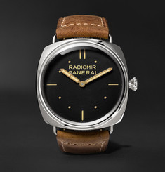 Officine Panerai - Radiomir S.L.C. 3 Days Acciaio 47mm Steel and Leather Watch