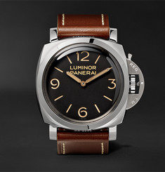 Officine Panerai - Luminor 1950 3 Days Acciaio 47mm Stainless Steel and Leather Watch