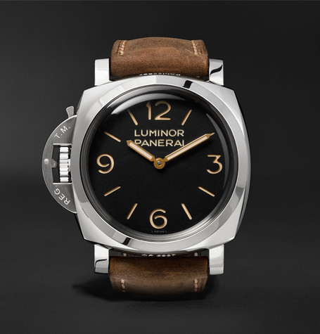 Panerai PAM00557 Luminor 1950 Left-handed 3 Days Acciaio 47mm Stainless Steel And Leather Watch - Brown