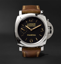 Officine Panerai Luminor Marina 1950 3 Days Acciaio 47mm Stainless Steel and Leather Watch