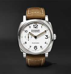 Officine Panerai - Radiomir 1940 3 Days Automatic Acciaio 42mm Stainless Steel and Leather Watch
