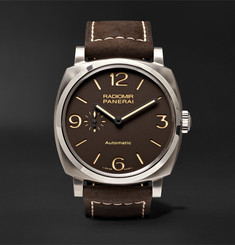 Officine Panerai Radiomir 1940 3 Days Automatic Titanio 45mm Titanium and Leather Watch