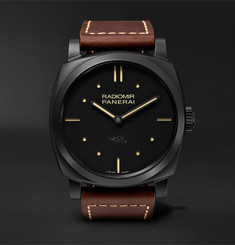 Officine Panerai Radiomir 1940 3 Days Ceramica 48mm Ceramic and Leather Watch