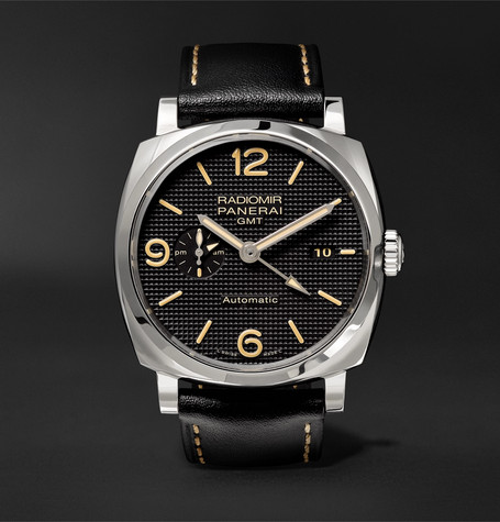 Panerai PAM00627 Radiomir 1940 3 Days Gmt Automatic Acciaio 45mm Stainless Steel And Leather Watch - Black
