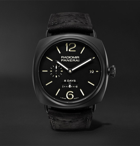Panerai PAM00384 Radiomir 8 Days Ceramica 45mm Ceramic And Suede Watch - Black