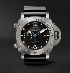 Officine Panerai Luminor Submersible 1950 3 Days Chrono Flyback Automatic Titanio 47mm Titanium and Rubber Watch