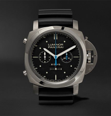 PAM00530 Luminor 1950 Rattrapante 8 Days Titianio 47mm Titanium And Rubber Watch - Black