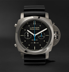 Officine Panerai Luminor 1950 Rattrapante 8 Days Titianio 47mm Titanium and Rubber Watch