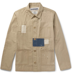 Neighborhood Paint-Splattered Patchwork Cotton-Twill Jacket