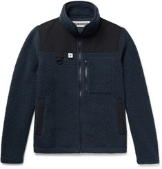 Neighborhood Appliquéd Faille-Trimmed Polartec Fleece Zip-Up Jacket