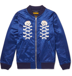 Neighborhood Embroidered Satin Jacket