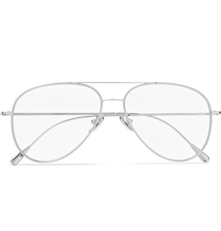 CUTLER AND GROSS 58Mm Polarized Aviator Optical Glasses - Palladium in Clear