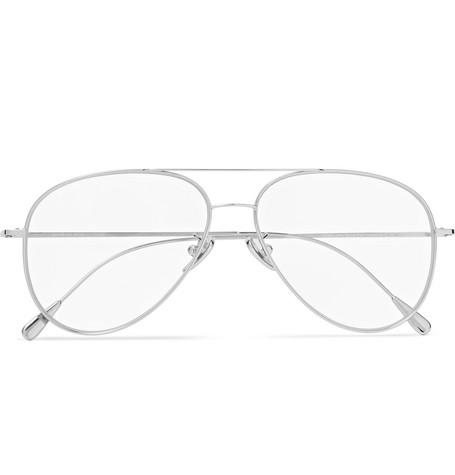 58Mm Polarized Aviator Optical Glasses - Palladium in Clear