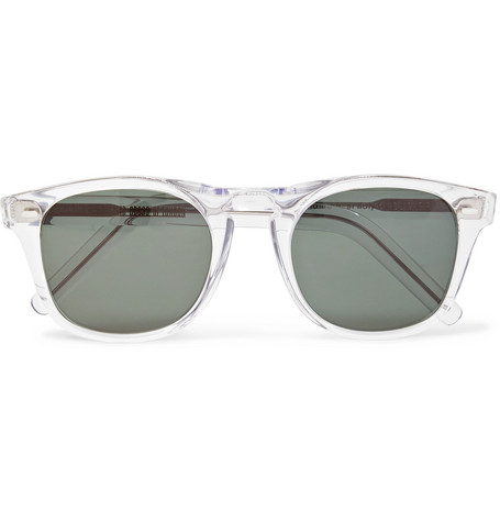Cutler And Gross D-Frame Acetate Sunglasses In Clear