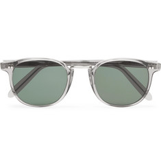 Cutler and Gross - Round-Frame Acetate and Silver-Tone Sunglasses