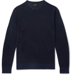 Beams Plus - Linen and Silk-Blend Sweater