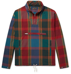 Beams Plus Packable Checked Cotton and Nylon-Blend Hooded Anorak