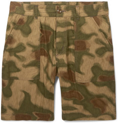 Neighborhood Baker Slim-Fit Camouflage-Print Cotton Shorts