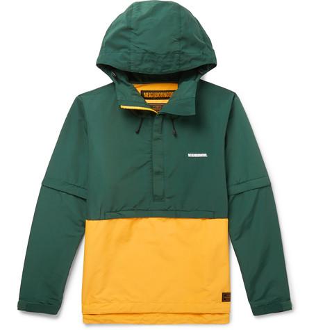 Neighborhood - Two-Tone Cotton-Blend Shell Hooded Jacket - Yellow