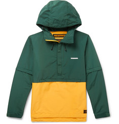 Neighborhood Two-Tone Cotton-Blend Shell Hooded Jacket