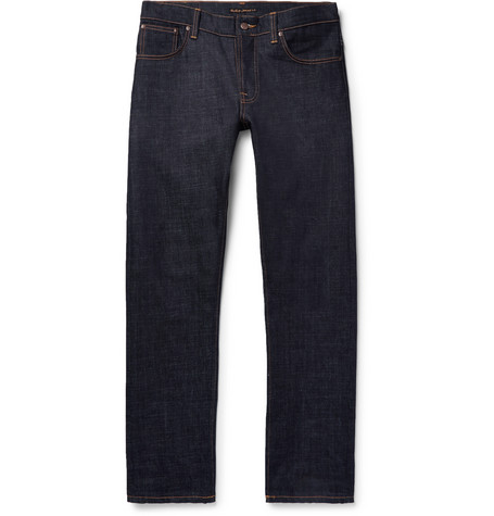 Dude Dan Organic Stretch-denim Jeans - Dark denim