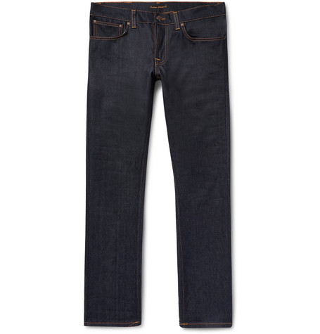 Grim Tim Slim-fit Organic Stretch-denim Jeans - Dark denim