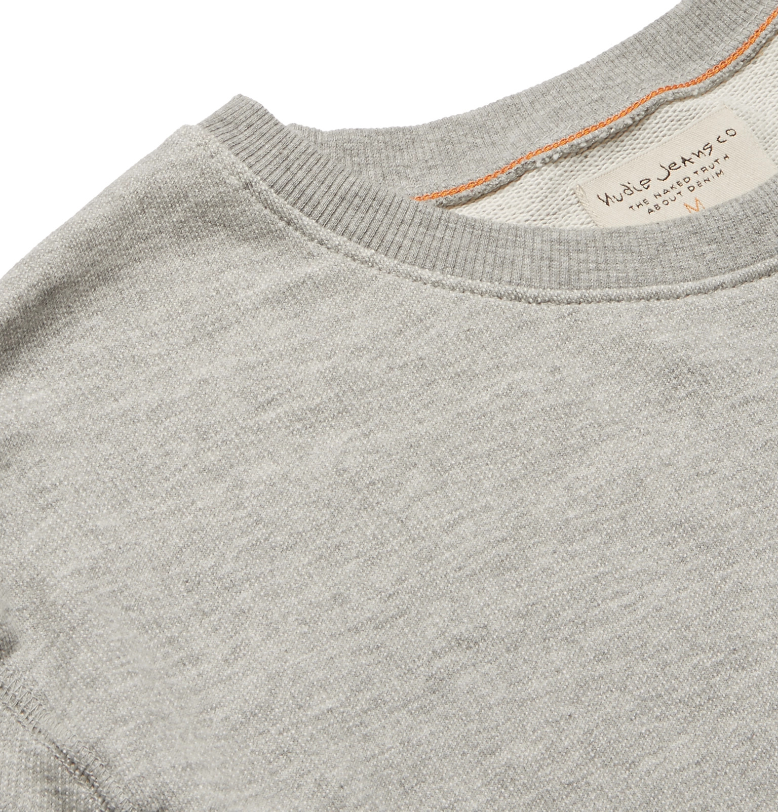 Mélange Jersey Organic Loopback Jeansevert Cotton Nudie Sweatshirt 5qU1nt