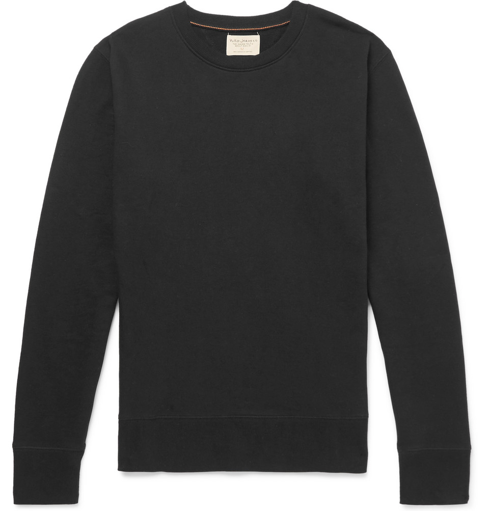 Bild på Evert Loopback Organic Cotton-jersey Sweatshirt - Black