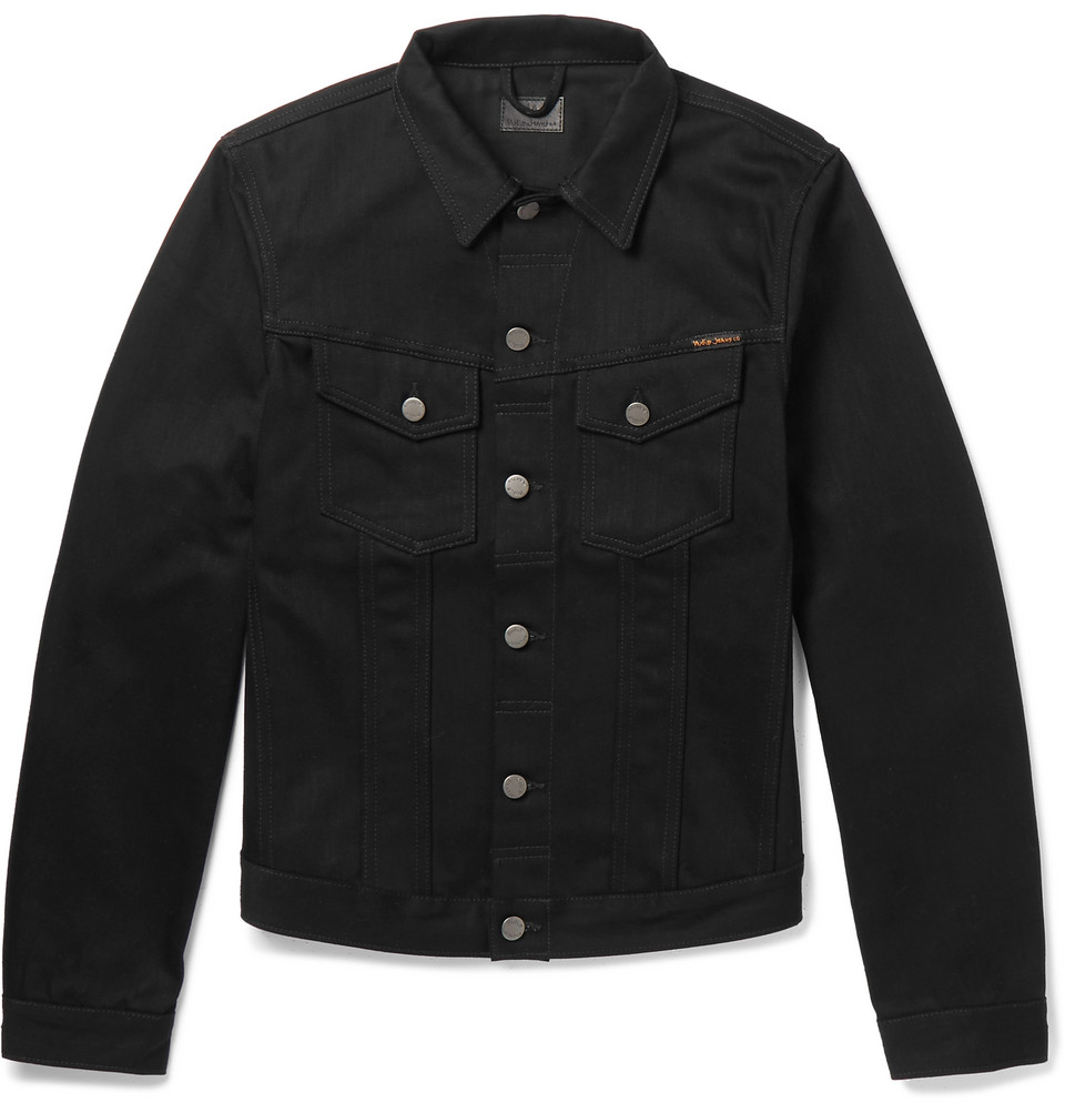 Bild på Billy Slim-fit Organic Denim Jacket - Black