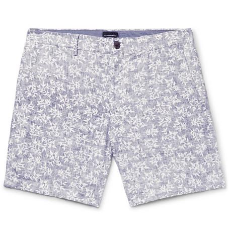 Baxter Slim-fit Striped Linen Shorts Club Monaco KfhzSA70