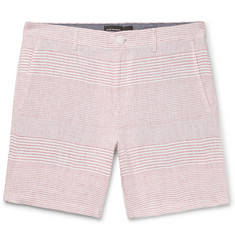 Club Monaco Baxter Slim-Fit Striped Linen Shorts