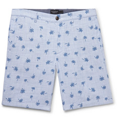 Club Monaco Maddox Slim-Fit Printed Cotton Shorts