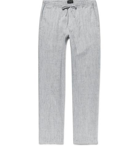 Beach Slim-fit Mélange Slub Linen-blend Drawstring Trousers Club Monaco 8whnKVLh7x