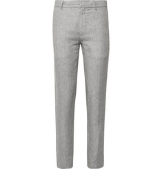 Club Monaco Sutton Slim-Fit Puppytooth Slub Linen Trousers