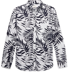 Club Monaco - Slim-Fit Button-Down Collar Printed Linen Shirt