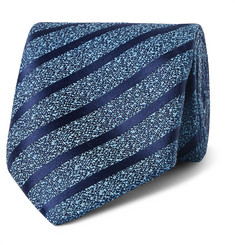 Charvet 7.5cm Striped Silk and Linen-Blend Tie