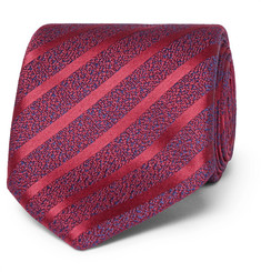 Charvet - 7.5cm Striped Silk and Linen-Blend Tie