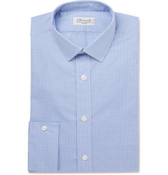 Charvet - Blue Gingham Cotton-Poplin Shirt