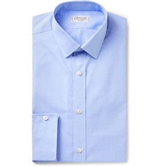 Charvet - Blue Puppytooth Cotton Shirt
