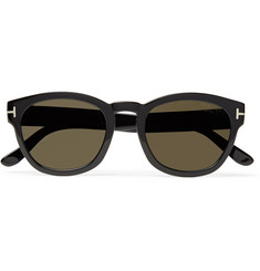 TOM FORD - Bryan Round-Frame Acetate Polarised Sunglasses