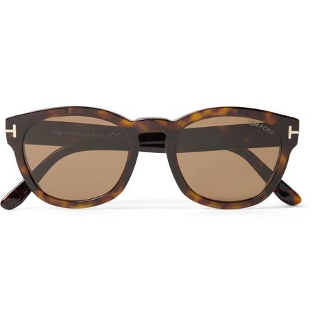 9221fb277e Tom Ford Bryan Round-Frame Tortoiseshell Acetate Sunglasses ...