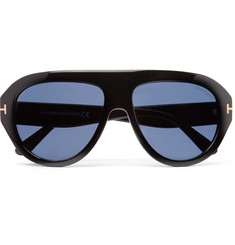 TOM FORD - Felix Aviator-Style Acetate Sunglasses