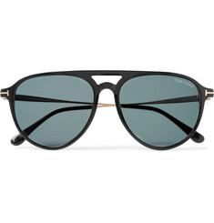 TOM FORD - Carlo Aviator-Style Acetate and Gold-Tone Sunglasses