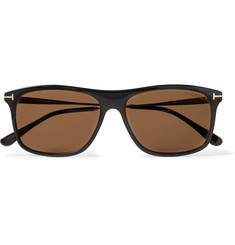 TOM FORD - Square-Frame Acetate and Gold-Tone Sunglasses